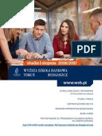 Informator 2016 - studia I stopnia - Wyższa Szkoła Bankowa w Toruniu.pdf