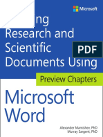 Microsoft Press eBook Creating Research and Scientific Docs Preview