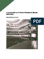 La revista y su presencia en el Teatro Principal de Alicante (1941-1975) de Juan Ródenas Cerdá