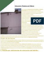 Patologia de La Construccion FISURAS en MUROS