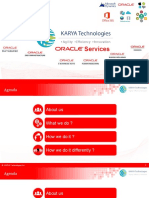 Karya Technologies Provides Oracle Services At Affordable Cost