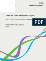Insight 1 Defining Talent and Talent Management