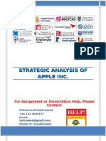 STRATEGIC ANALYSIS OF APPLE INC.