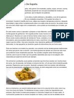 Recetas De Cocina De España.
