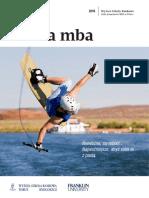 Informator 2016 - Studia MBA - Wyższa Szkoła Bankowa w Toruniu
