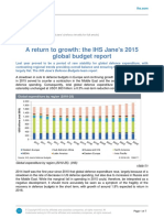 A Return to Growth the IHS Janes 2015 Global Budget Report