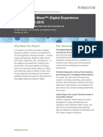 The Forrester Wave- Digital Experience Platforms, Q4 2015