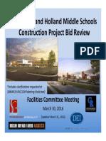 Council Rock Middle Schools Construction Bid Review