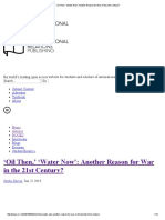 'Oil Then,' 'Water Now'_ Another Reason for War in the 21st Century