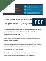 Paolo Sorrentino una mirada a la vida La gran belleza y La juventud version blog.odt
