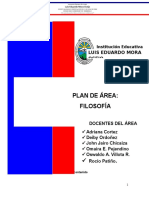 Plan de Área de Filosofía 2016.