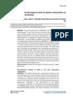 Análise Fitoquímica Das Cascas Do Caule Do Cajueiro