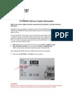FT1DR Software Update Information 10-22-14