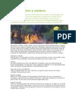 Herramientas y Equipos de incendios forestales