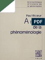 À l'école de la phénoménologie - Paul Ricoeur - Vrin - mars, 2004.pdf