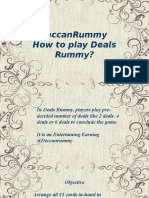 DeccanRummy – How to Play Deals Rummy?