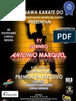 Brochure del Torneo Antonio Marquez