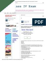 Marine Engineering Knowledge (General) 1