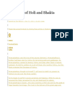 the story of holi and bhakta prahlada