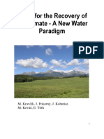 Water for the Recovery of the Climate a New Water Paradigm