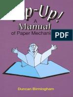 Pop-up a Manual of Paper Mechanisms