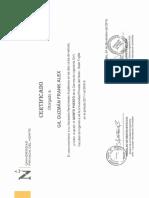 Certificado de Cuarto Puesto