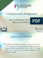 Certificaciones Religiosas Como Acceder a Los Mercados KOSHER & HALAL Expoalimentaria 2013