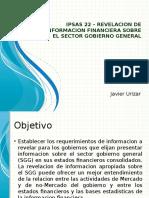 IPSAS 22 – Revelacion de Informacion Financiera