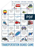 12784 Transportation Board Game