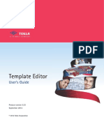 Template Editor User Guide
