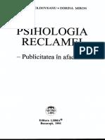 Psihologia reclamei - Publicitatea in afaceri - Maria Moldoveanu-Scholz, Dorina Miron.pdf