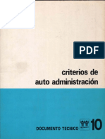 1974 Infonavit Criterios de Autoadministracion