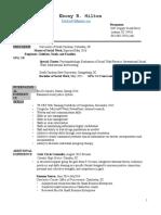 msw resume 2016