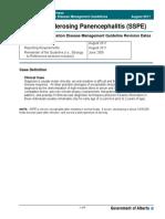 Guidelines Subacute Sclerosing Panencephalitis