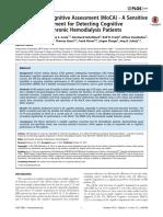 MOCA in Chronic Hemodialysis Patients
