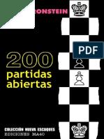 200 PARTIDAS ABIERTAS