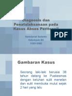 Diagnosis Dan Penatalaksanaan Pada Kasus Abses Peritonsil