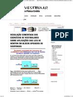 Resolução Comentada Dos Exercícios de Vestibulares Sobre Aplicações Das Leis de Newton Em Blocos Apoiados Ou Suspensos _ Física e Vestibular