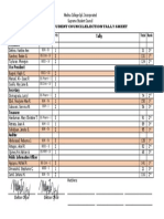 Tally Sheet for Election