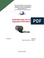 Distribucion de Los Ingresos Petroleros