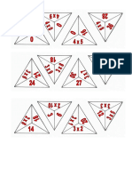 Fichas Triángulos Multiplicar 234