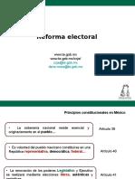 Reformas Electorales, Febrero 2016