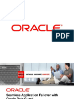 Seamless Application Failover with  Oracle Data Guard