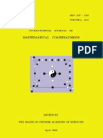 International Journal of Mathematical Combinatorics, Vol 1, 2010