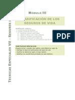 MODULO III - Clasificación de los Seguros de VIDA