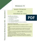 Módulo IV - Bases Tecnicas de Los Seguros de Vida (1)