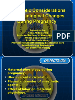 Anesthetic Considerations of Physiological Changes During Pr