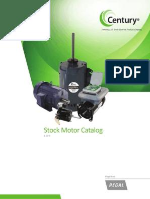 1100_Century_Stock_Motor_Catalog.pdf | Mechanical Fan | HvacScribd