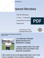 Bioengineered Microbes