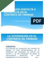 TEMA 3. Suspension Perfecta e Imperfecta en El Contrato